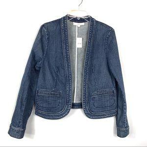 Loft NEW Blue Jean Jacket Size 8